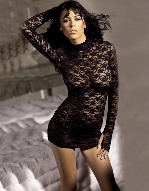 Черное прозрачное платье 15 фотография