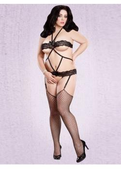 XXL-6XL Sexy Black Lace Lingerie W846109 85fa4fc55cff