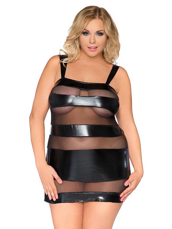 Sexy Transparent Vinyl Plus Size Dresswonder Beauty Lingerie Dress