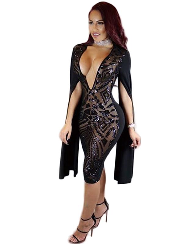 Sexy Low Cut Sequins Bandage Dress_Wonder Beauty lingerie ...